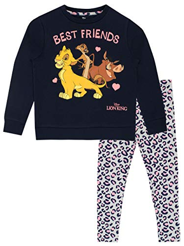 Disney Felpa e Leggings per Ragazze Re Leone The Lion King Multicolore 3-4 Anni