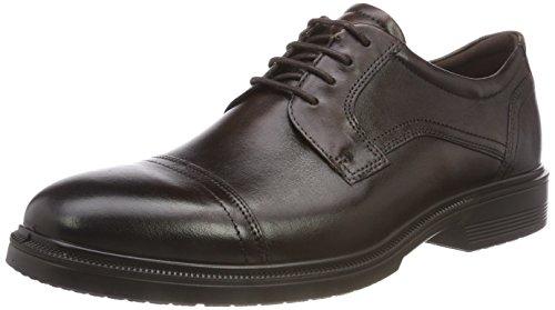 ECCO Lisbon', Zapatos de Cordones Derby para Hombre, Marrón Cocoa Brown 1482, 48 EU