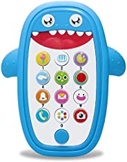 AMERTEER Cell Phone Toy, Kids Early Education Telephone for Learning and Play with Silicone Cover Music Lights