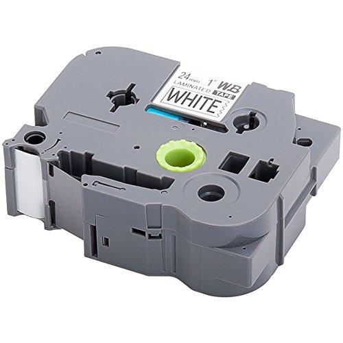 Schriftband für Brother TZ-251 / TZe-251 | Schwarz auf Weiß / 24mm x 8m | geeignet für Brother P-Touch 2400 / 2420 / 2430 / 2450 / 2460 / 2470 / 2480 / 2500 / 2730 / 3600 / 7600 / 9200 / 9400 / 9600 / 9700 / 350 / 500 / 550 / 700 und andere P-Touch Geräte