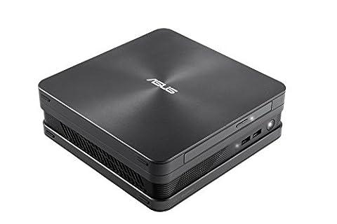 "Asus VivoPC / Mini-PC VC65R-G012Z avec Processeur Core i3-6100T, 4Go RAM, 2,5"" 1TB HDD + 2ème 2,5'' Slot, Intel HD Graphics 4400, Windows 10 Pro 64 bits"