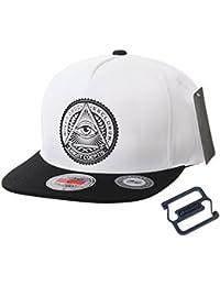 4550d46c09a WITHMOONS Snapback Hat Illuminati Patch Hip Hop Baseball Cap AL2344