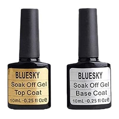 Bluesky Top and Base Coat Nail Polish