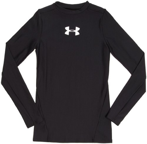 Under Armour Youth Cold Gear Long Sleeve Crew Black Large (Under Armour Coldgear Youth)