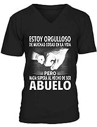 TEEZILY Nada SUPERA AL Hecho DE SER Abuelo Camiseta de Pico Hombre