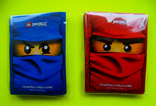 Card Game: 60 Hüllen / Sleeves für Karten / Kartenhüllen mit Motiv (Blaue Lego Ninjago)