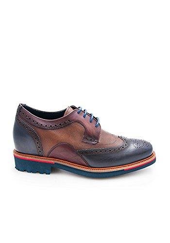 ZERIMAR Chaussures réhaussantes intérieur pour messieurs Augmentation + 7cm Disegne par Angel Infantes Bleu Marine