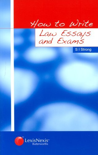 How to Write Law Essays and Exams by Dr S.I. Strong (2003-08-27)