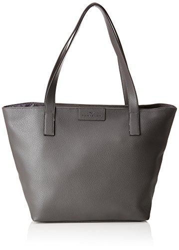 TOM TAILOR Shopper Damen Miri Zip, Grau (Dunkelgrau), 17.5x28x36 cm,Tasche Damen