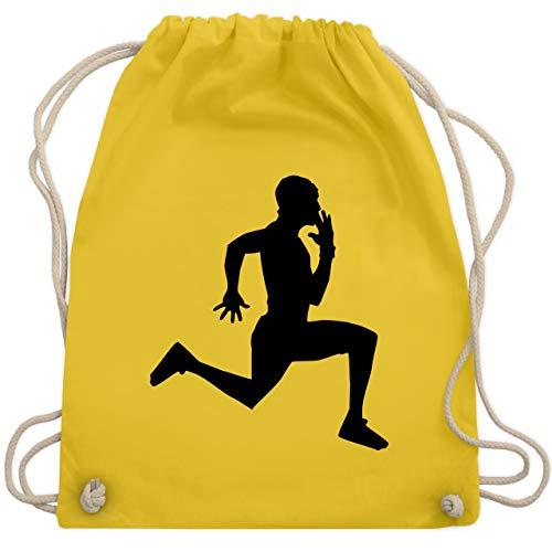 Laufsport - Läufer - Unisize - Gelb - WM110 - Turnbeutel & Gym Bag (Marathon Kordelzug)