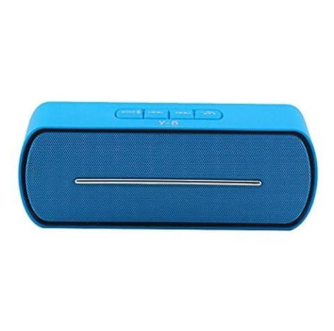 H&M Beweglicher drahtloser Bluetooth Lautsprecher, Stereo im Freien freihändiger Musik-Ton-Kasten Unterstützungs-TF-Kartenspiel, USB-FM Lautsprecher für intelligentes Telefon , blue