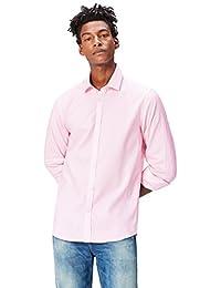 FIND Men's Micro Print Cotton Oxford Slim Fit Shirt