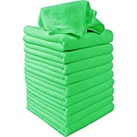 10 Pcs/set Green Microfiber Cleaning Auto Car Detailing Soft Microfiber Cloths Wash Towel Duster