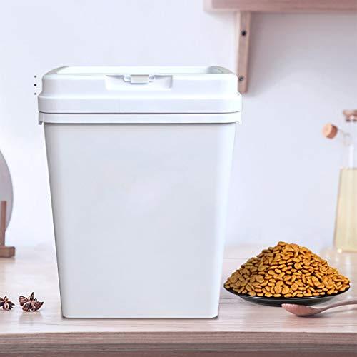 Großer 15KG-Tierfutterbehälter Frische trockene Hunde & Katzen Lebensmittel Umweltfreundlich PP-Material-Aufbewahrungsbehälter für Kibble-Vogelsamen-Reis und Bulk Food BPA-freier weißer Mehltau-Beweis -
