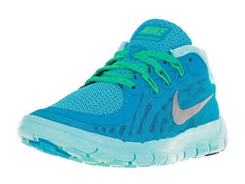 Nike Nike Free 5.0 Flash, Chaussures de running femme BLUE LAGOON/MIDNIGHT NAVY/COPA/METALLIC SILVER