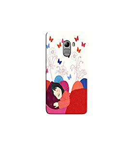 Citydreamz Little Sleeping Girl/Butterflies/Colorful/Abstract Hard Polycarbonate Designer Back Case Cover For Lenovo K4 Note