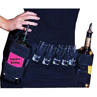 Shot Glass holder ,Waist Belt With Two Square Bottle Holders by Plastic Test Tubes LTD