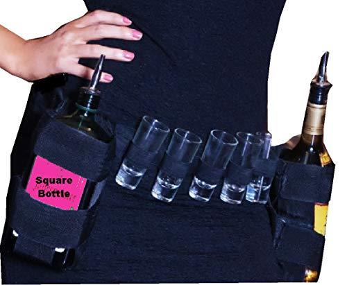 SHOT GLAS Halter, Taille Gürtel mit zwei Flaschenhalter Platz