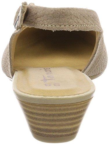 Tamaris 29400, Sandali con Cinturino Alla Caviglia Donna Beige (Taupe Sued.str)