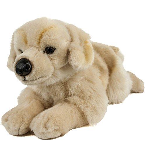 Preisvergleich Produktbild Kuscheltier Golden Retriever/Labrador 45 cm, liegend, blond, Plüschhund, Plüschgoldenretriever