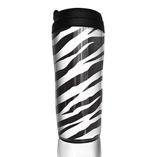 Travel Coffee Mug Zebra Stripes 12 Oz Spill Proof Flip Lid Water Bottle Environmental Protection Material ABS - Zebra Bottle Cap