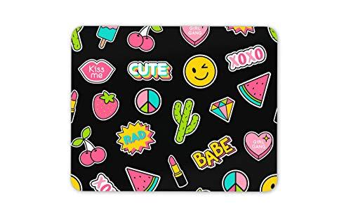 Nettes Girly Aufkleber-Blatt Mauspad Pad - Teen Emoji-Computer Fun PC-Geschenk # 14710 -
