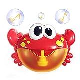Colfeel Badewannenspielzeug, Seifenblasenmaschine Wasserspielzeug, Krabbenform Tragbare Bubble Maschine, Kinder Garten Spielzeug Blasen Automatisch-Sprühen mit Musik für Kinder