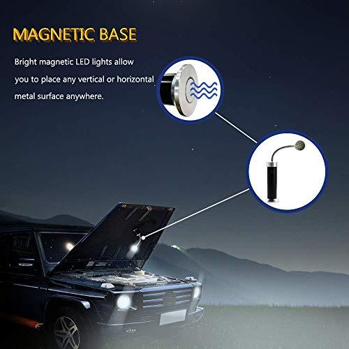 41oMQjwLt7L - Vegena LED Grill Licht [2 Stück], Magnetische Grill BBQ Licht Set Flexibel Grill Lampen Outdoor Grill Lichter Grillen Zubehör Schwarz