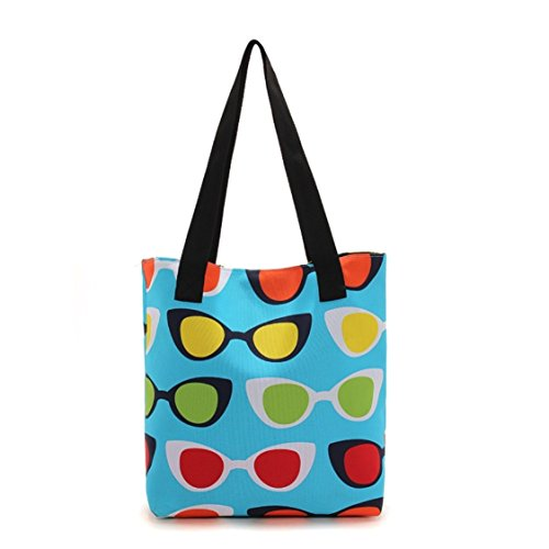 Oath_song ,  Damen Tasche , blau - sunglasses - Größe: Medium (Dot Polka Large Tote)