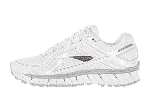 Brooks Adrenaline Gts 16, Chaussures de Running Compétition Femme Blanc/argenté