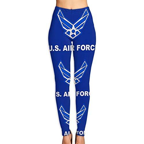 Deglogse Yogahosen, Trainingsgamaschen,Women's Soft Lightweight Air Force Military Flag Printed Leggings High Waist Yoga Pants Training Leggings (Air Force Trainingshose)