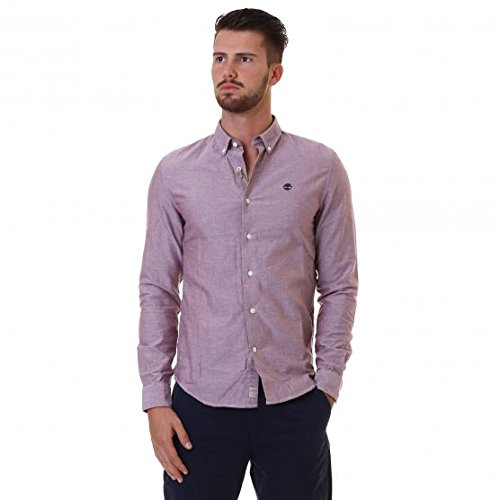 TIMBERLAND LS SLIM RATTLE RIVER OXFORD SHIRT UOMO L