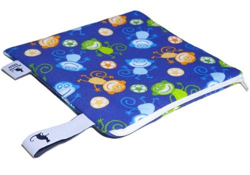 Mon Petit Bleu 5901323929854 Multi Use Bag – Multi-Funktions-Tasche – vielfach nutzbar, waschbar, wasserdicht und sogar lebensmittelecht - Muster Affen, Größe S