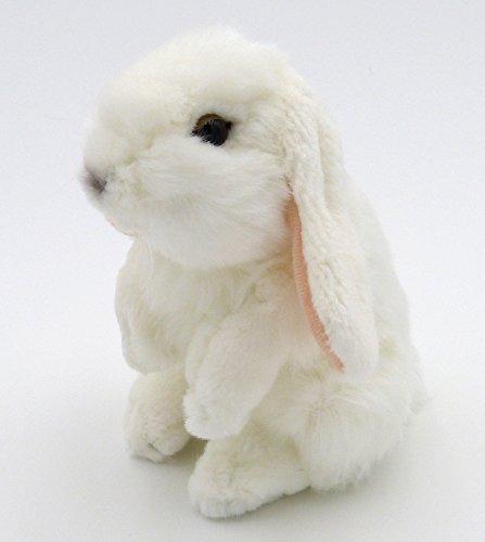 TrachtExemplar Süßer und Flauschig Weicher Plüsch Hase - Plüschhäschen Stofftier weiß - ca. 18 cm