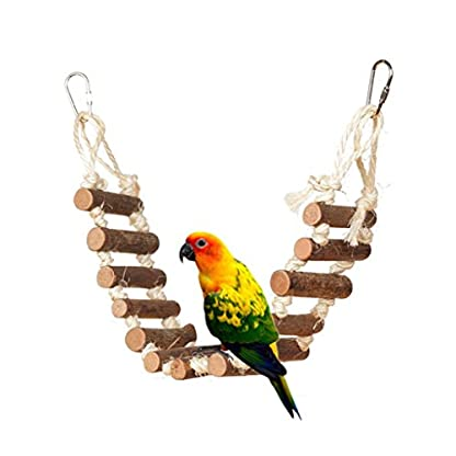 Gaddrt Animal Activity Toy Parrot Climbing Net Parrot Ladder Swing Budgie Hanging Toy Suspension Bridge Hammock Swing Ladder 1
