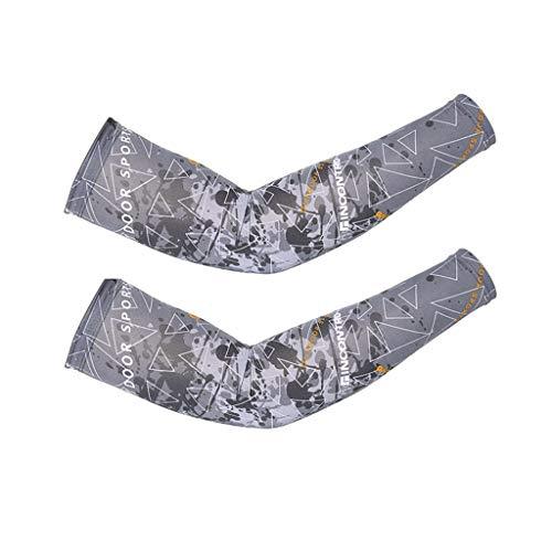 Arm Ärmel Anti-UV Kühler Compression Armlinge Lang Handschuh für Alle Outdoor Sport Schutz (1 Paar),Gray (Under Armour Kinder Rutschen)