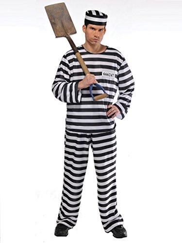 "Häftling Kostüm ""Jailbird"" Herren Gr. Plus"
