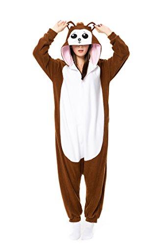 Pigiama per adulti a pezzo unico, motivo: animali, per cosplay, costume di carnevale, natale, halloween, festa in maschera, unisex marrone marrone scimmia s