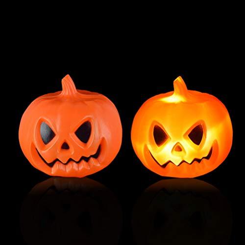 SUPVOX Halloween Light-up Kürbis Lampe glühende Kürbis Party Spukhaus Bar Dekorationen (Orange)