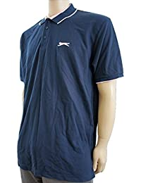 Slazenger - Polo -  - Manches courtes Homme Bleu Navy Blue / Pink