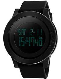 Gokelly Unisex SKMEI SK1142 adolescentes ideal Circle deportes al aire libre reloj Digital Carcasa de resistente