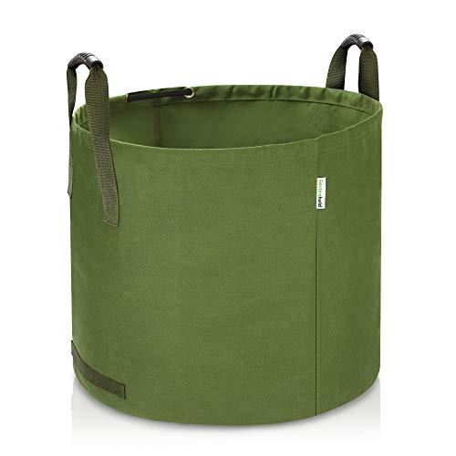 *Gartenheld 125L Gartenabfallsack Laubsack aus robustem Leinengewebe | schwerlast Gartensack | zusammenfaltbar | vielseitig einsetzbar | Gartentasche Rasensack*
