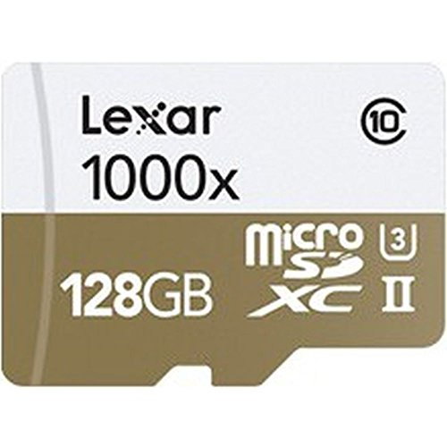 Lexar LSDMI128CBEU1000R Professional Class 10 1000x Micro SDHC UHS-II Speicherkarte mit USB-Kartenleser, 128 GB (Sdhc Class 10 Lexar Micro)