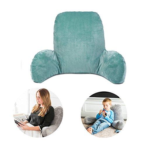 Hinzufügen Große Rückenkissen Kenmont Luxus Lendenkissen Weich Plüsch Kissen Stützkissen Bett Lesen und Sofa zur Linderung von Rückenschmerzen Fernsehkissen  Bedrest (Pfau grün)