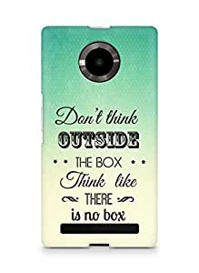 Amez Dont think Outside the Box think like there is no Box Back Cover For YU Yupheria