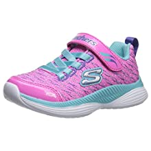 Skechers Girls' Move 'N Groove Spinner Trainers, Pink (Pink Sparkle Mesh/Turquoise & Multi Trim Pktq), 12 UK 30 EU