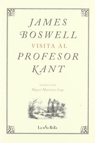 James Boswell visita al profesor Kant por James Boswell