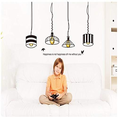 Kreative Kronleuchter Schlafsaal Entfernbare Wandaufkleber Europäischen Warme Wanddekoration Aufkleber Wohnzimmer Schlafzimmer Glühbirne Straßenlaterne -