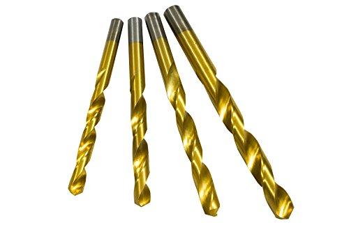 HSS-TIN Kernlochbohrerset Metallbohrer für Gewinde Kernlöcher M10-M14