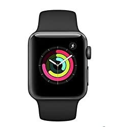 Apple Mql12ba Watch Series 3 Gps 42mm Space Grey Aluminium Case With Black Sport Band - (Smart Tech > Smart Fitness)